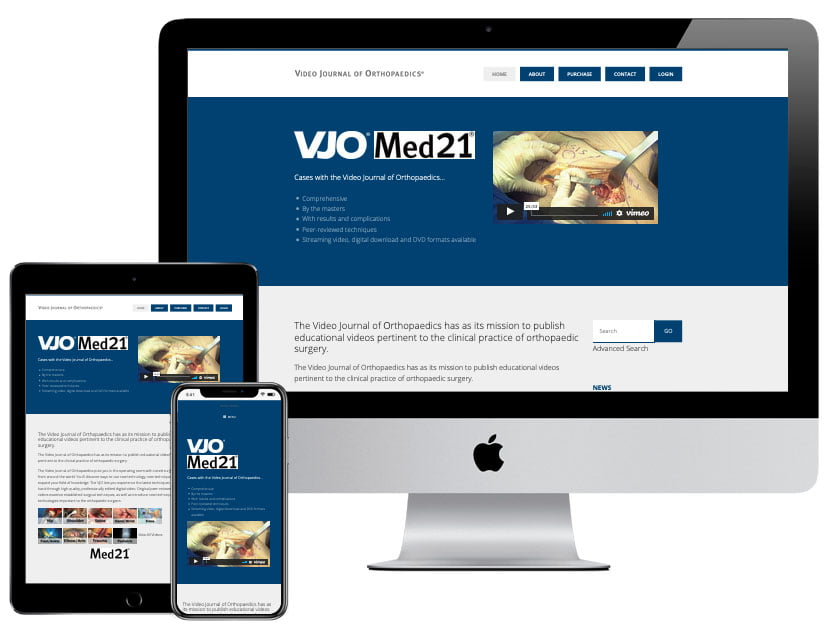 Web Design - Video Journal of Orthopaedics