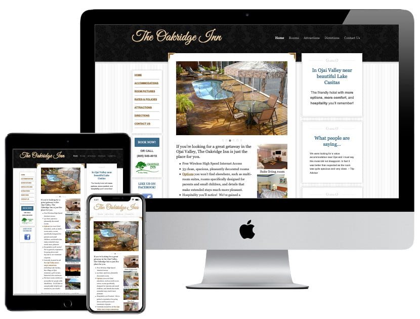 Web Design - Oakridge Inn