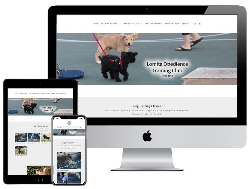 Web Design - Lomita Dog Training