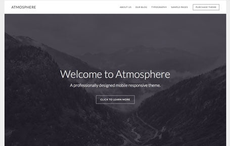 Atmosphere Pro theme by StudioPress, available through 9 Planets LLC Web Design & Hosting