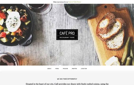 Cafe Pro theme by StudioPress, available through 9 Planets LLC Web Design & Hosting