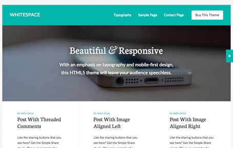 Whitespace theme by StudioPress, available through 9 Planets LLC Web Design & Hosting