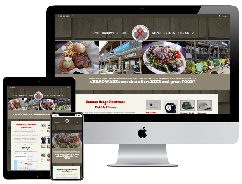 Web Design - Cannon Beach Hardware