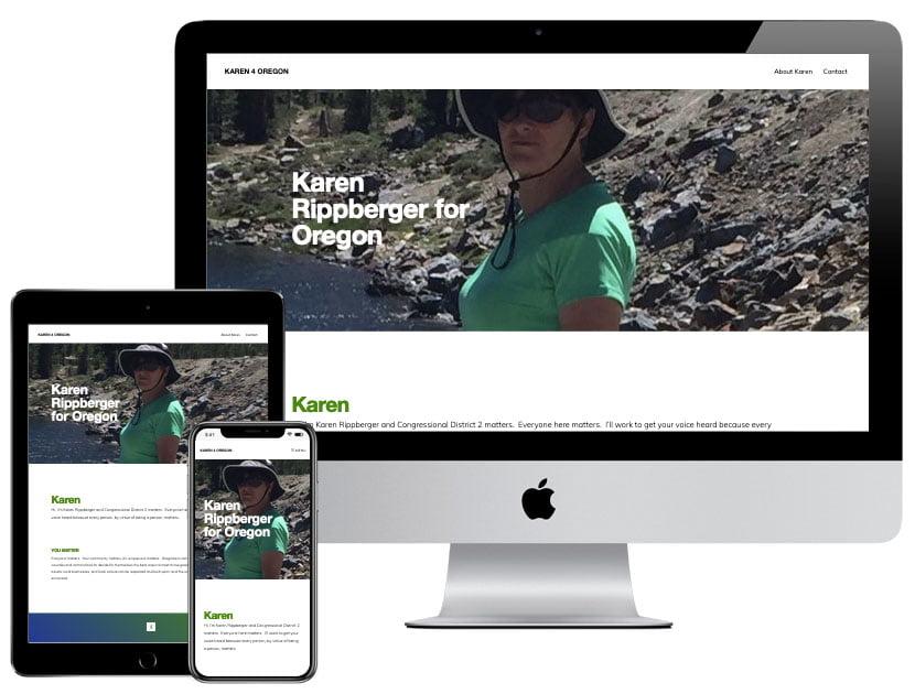 Web Design - Karen For Oregon
