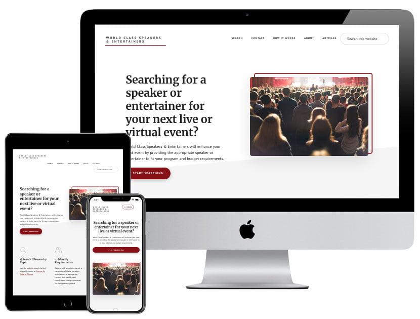 Web Design - World Class Speakers