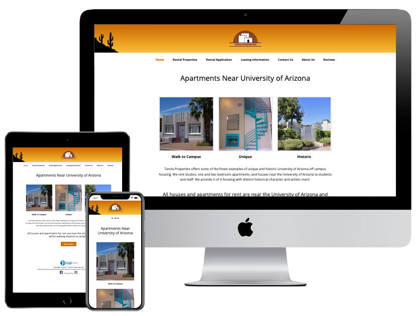 Web Design - Tarola Properties