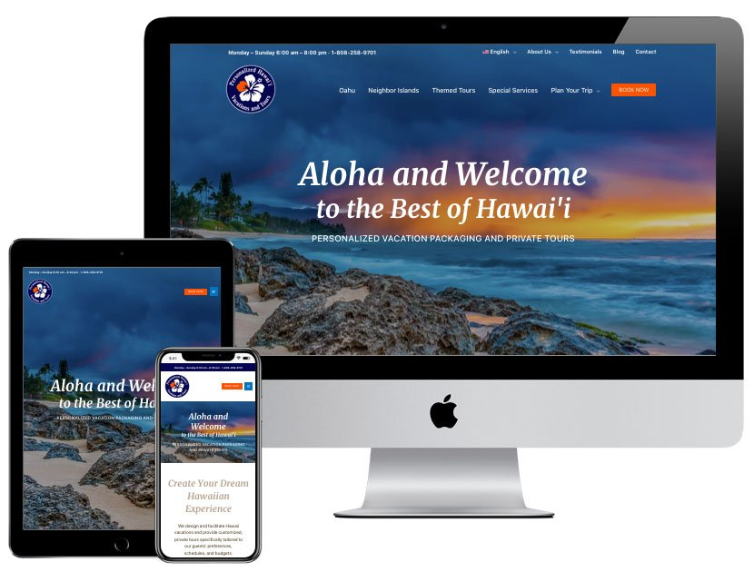 Web Design - Personalized Hawaii Vacations for Me