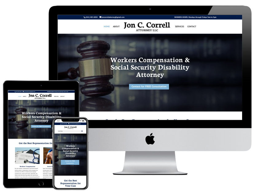 Web Design - Jon Correll, Attorney