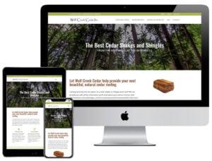 Web Design - Wolf Creek Cedar