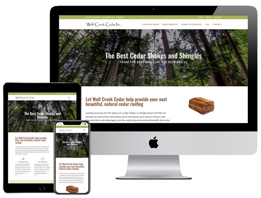 Web Design - Wolf Creek Cedar