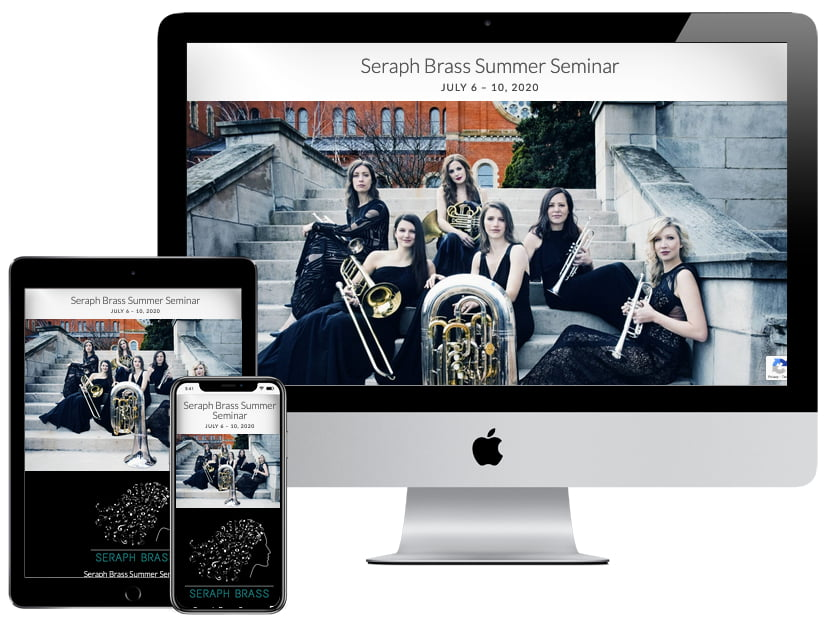 Web Design - Seraph Brass Seminars