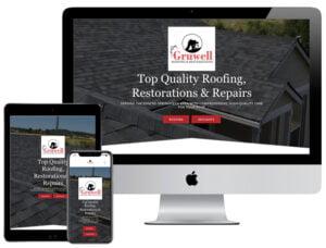 Web Design - Gruwell Roofing