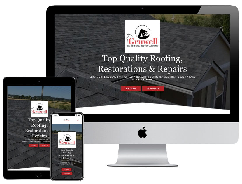 Web Design - Gruwell Roofing