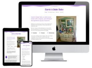 Web Design - Carrie's Estate Sales