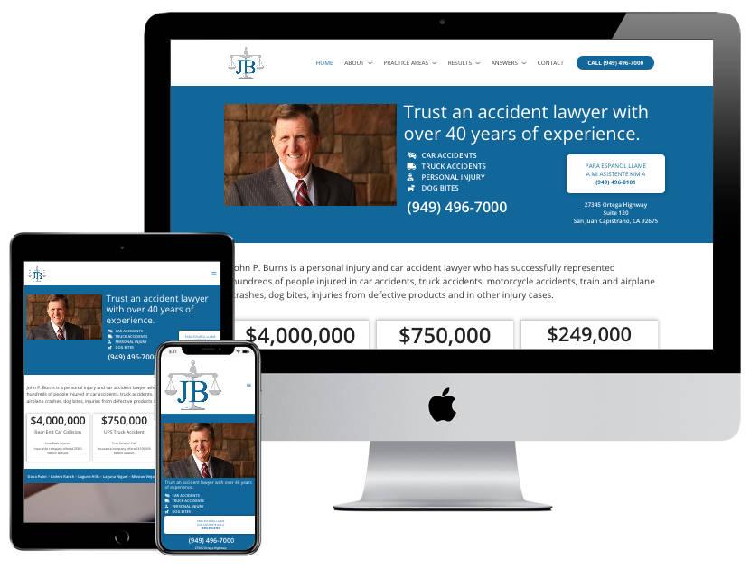 Web Design - John Burns Law OC